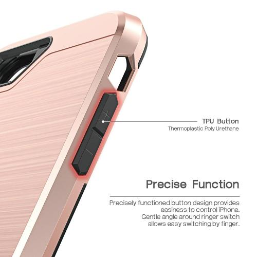 Apple iPhone 7 (4.7 inch) Case, BEFROG [Rose Gold] Dual Layer Drop Protective Case [Armor Case] PC + TPU Bumper Case