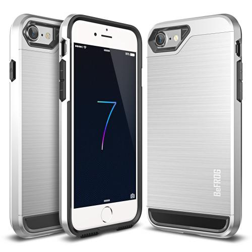[Apple iPhone 7] (4.7 inch) Case, BEFROG [Silver] Dual Layer Drop Protective Case [Armor Case] PC + TPU Bumper Case