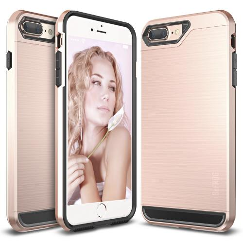 [Apple iPhone 7 Plus] (5.5 inch) Case, BEFROG [Rose Gold] Dual Layer Drop Protective Case [Armor Case] PC + TPU Bumper Case