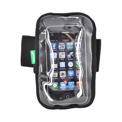 Original Arkon Universal Neoprene Sports Armband w/ Velcro Closure for Extra-Large Smartphones, XXL-ARMBAND - Black
