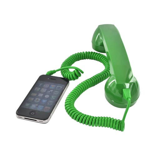 Original YUBZ Retro Handset, YH06GN-01-TB - Green (3.5mm)
