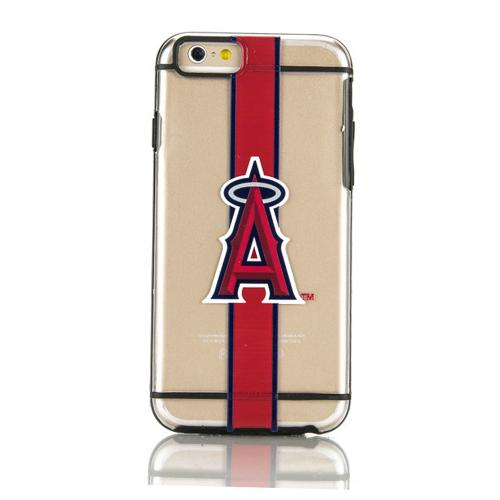 Apple iPhone 6/6S (4.7 inch) Sports Case, [Los Angeles Angels] Hydroclear Ultra-Slim 3D UV Printed Textued Hard Back Case w/ TPU Border