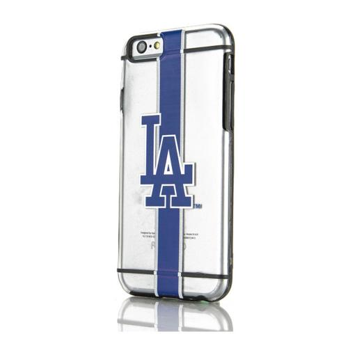 [Apple iPhone 6/6S] (4.7 inch) Sports Case, [Los Angeles Dodgers] Hydroclear Ultra-Slim 3D UV Printed Textued Hard Back Case w/ TPU Border