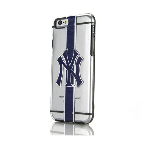 [Apple iPhone 6/6S] (4.7 inch) Sports Case, [New York Yankees] Hydroclear Ultra-Slim 3D UV Printed Textued Hard Back Case w/ TPU Border