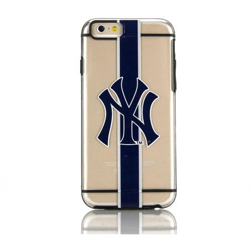 Apple iPhone 6/6S (4.7 inch) Sports Case, [New York Yankees] Hydroclear Ultra-Slim 3D UV Printed Textued Hard Back Case w/ TPU Border