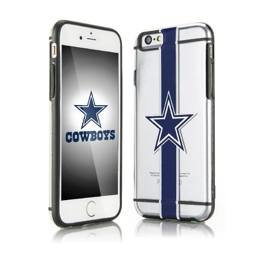 Apple iPhone 6/6S (4.7 inch) Sports Case, [Dallas Cowboys] Hydroclear Ultra-Slim 3D UV Printed Textued Hard Back Case w/ TPU Border