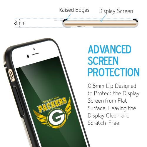 [Apple iPhone 6/6S] (4.7 inch) Sports Case, [Green Bay Packers] Hydroclear Ultra-Slim 3D UV Printed Textued Hard Back Case w/ TPU Border
