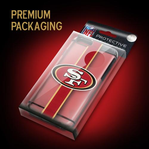 Apple iPhone 6/6S (4.7 inch) Sports Case, [San Francisco 49ers] Hydroclear Ultra-Slim 3D UV Printed Textued Hard Back Case w/ TPU Border