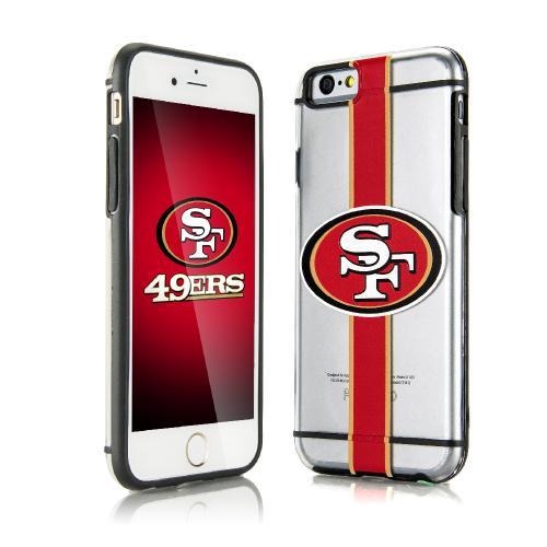 [Apple iPhone 6/6S] (4.7 inch) Sports Case, [San Francisco 49ers] Hydroclear Ultra-Slim 3D UV Printed Textued Hard Back Case w/ TPU Border