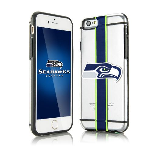 [Apple iPhone 6/6S] (4.7 inch) Sports Case, [Seattle Seahawks] Hydroclear Ultra-Slim 3D UV Printed Textued Hard Back Case w/ TPU Border