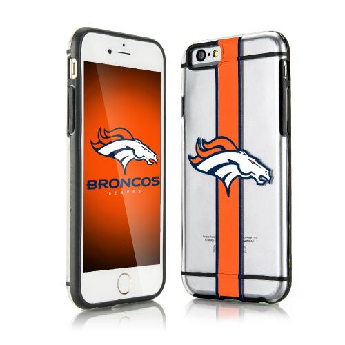 Apple iPhone 6/6S (4.7 inch) Sports Case, [Denver Broncos] Hydroclear Ultra-Slim 3D UV Printed Textued Hard Back Case w/ TPU Border