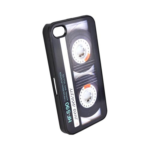 Original Zero Gravity AT&T/ Verizon Apple iPhone 4, iPhone 4S Hard Case - Black/ White Cassette Tape