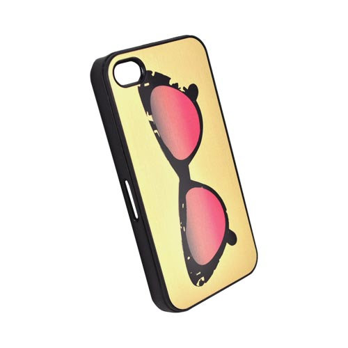Original Zero Gravity AT&T/ Verizon Apple iPhone 4, iPhone 4S Aluminum Hard Case - Gold/ Black/ Pink Sunglasses