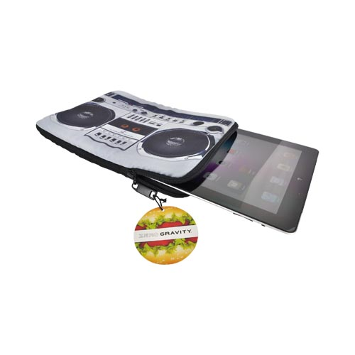 Original Zero Gravity Apple iPad (All Gen.) Nylon Sleeve Case - Black/ Gray Boombox