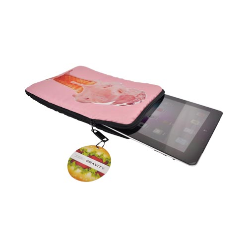Original Zero Gravity Apple iPad (All Gen.) Nylon Sleeve Case - Baby Pink Soft Serve Ice Cream